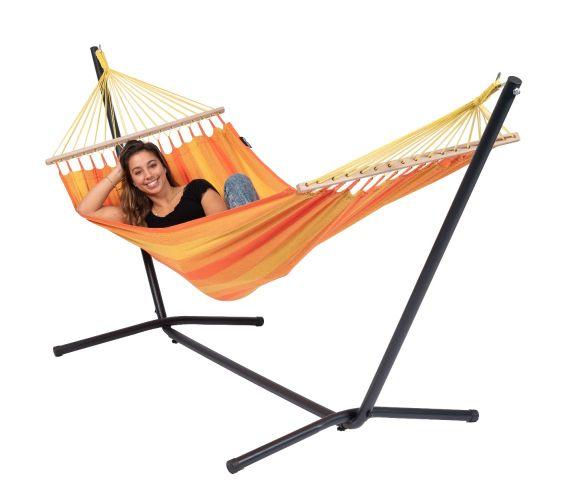 RiippumattoYhdellä Jalustalla 'Easy & Relax' Orange