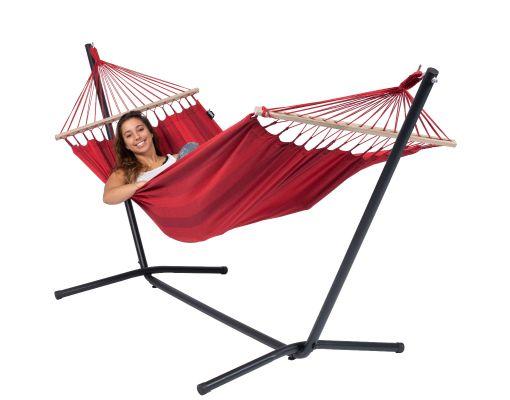 RiippumattoYhdellä Jalustalla 'Easy & Relax' Red